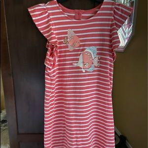 Pink & White Striped Fish dress